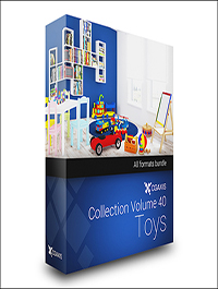 CGAxis Models Volume 40 Toys