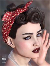Yvette Hair for Genesis 3 & 8 Female(s)