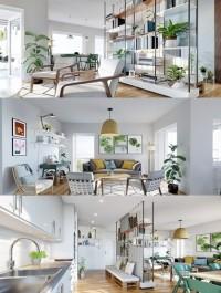 Alice Springs, AU Concept: Apartment Full 3D Interior Scene