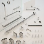 Accessories for glass shower enclosures