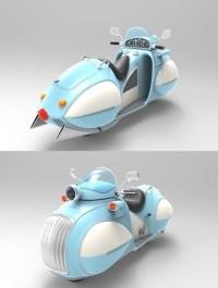 Vintage Bike 3d Model