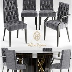 Table and chairs Vittoria Frigerio