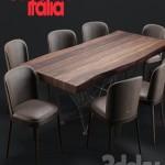 Cattelan Italia Gordon Deep Wood Magda Chair