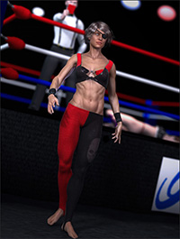 Outlaw of the Ring Outfit for Genesis 2 Female(s)