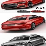 Audi A8 2017 3D Model