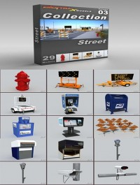 DigitalXModels 3D Model Collection Volume 3 STREET