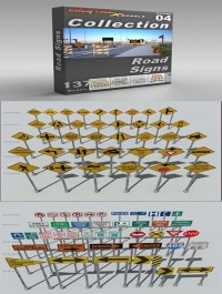 DigitalXModels 3D Model Collection Volume 4: ROAD SIGNS