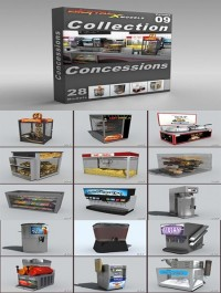 DigitalXModels 3D Model Collection Volume 9: CONCESSIONS