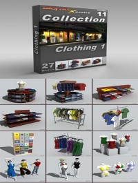 DigitalXModels 3D Model Collection Volume 11: CLOTHING 1