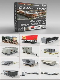 DigitalXModels 3D Model Collection Volume 13 ROOFTOP MECHANICAL