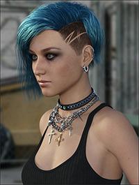 MRL Gem Hair for Genesis 3 and 8 Female