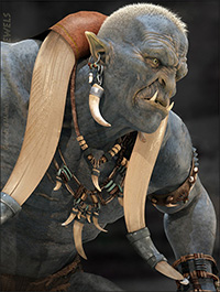 Vinnuth Kriegor Barbarian Jewels for Genesis 8 Male(s)