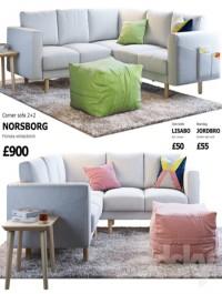 Sofa Ikea Norsborg 4 (angular)