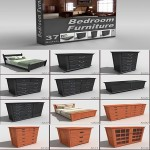 DigitalXModels 3D Model Collection Volume 15 BEDROOM FURNITURE