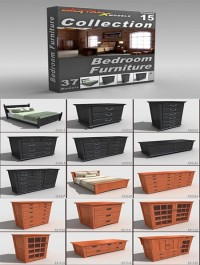 DigitalXModels 3D Model Collection Volume 15 BEDROOM FURNITURE