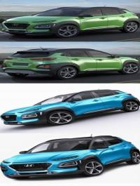 Hyundai Kona 2018 3D Model