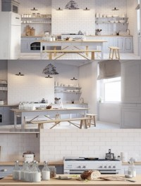 White Scandinavy Home 3D Scene