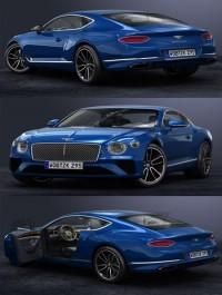 TurbosQuid 3D 2018 Bentley Continental GT