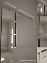 Stylish Bathroom Mirror Set + Complete Vray Setup