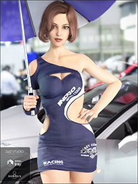 Racing Queen's Outfit for Genesis 8 Female(s)