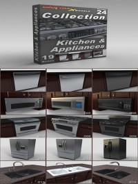 DigitalXModels 3D Model Collection Volume 24: KITCHEN AND APPLIANCES