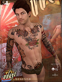Inked Vol.14: American Traditional for Genesis 8 Male(s)