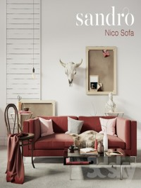 SANDRO Nico Sofa Claret set