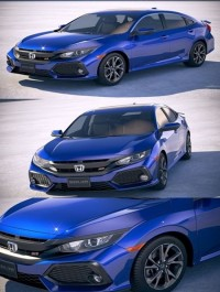 Honda Civic Si Sedan 2017 3D Model