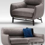 Sofa and armchair Esedra by Prospettive VENICE Sofa
