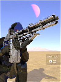 Vulcan Assault Rifle and Poses for Genesis 3 Male