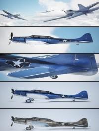 Airplane SBD Dauntless 3D Model