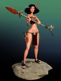 Island Warrior Girl 3D model