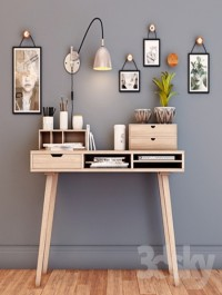 Desktop with decor