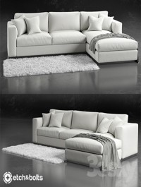 Etch Bolts Eudora L-Shaped Sofa