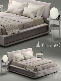 Bed BEDS CLIP molteni