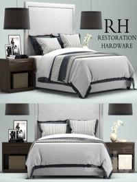 Restoration Hardware Wallace Upholstered bed