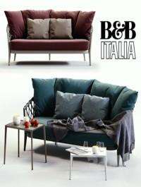 B & B Italia ERICA Blue & Red Sofa