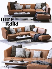 Ditre Italia LENNOX Leather Sofa