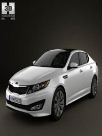Kia Optima (K5) with HQ Interior 2011 3D Model
