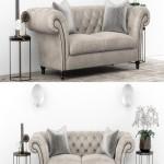 Club Chesterfield sofa set