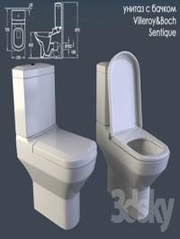 toilet cistern with Villeroy Boch Sentique
