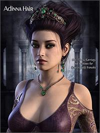 Adinna Hair for Genesis 3 and Genesis 8 by RPublishing
