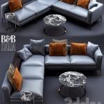 B &B Italia MICHEL Leather Sofa