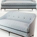 Baker Carnelian Sofa