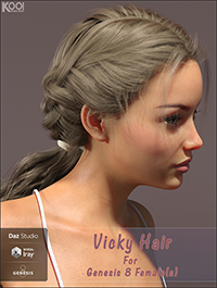 Vicky Hair for Genesis 8 Female(s)
