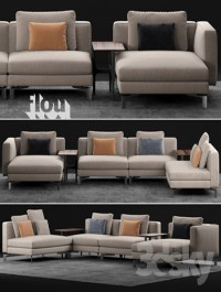 Flou Tay Modular Sofa Composition
