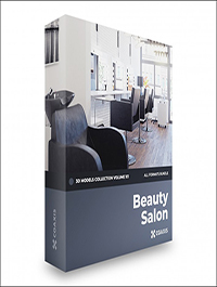 CGAxis Beauty Salon 3D Models Collection Volume 101
