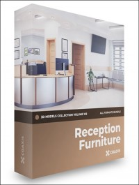 CGAXIS Reception Furniture 3D Models Collection Volume 102
