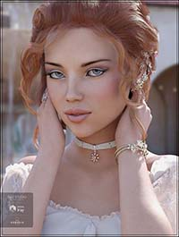 Floral Bliss Jewelry for Genesis 8 Female(s)