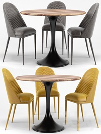 Amarelo Chair, Thor Dining Table